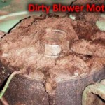 Dirty furnace blower motor