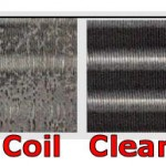 Mold growing on dirty coil and Clean Coil