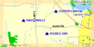 image showing location of copper canyon, texas