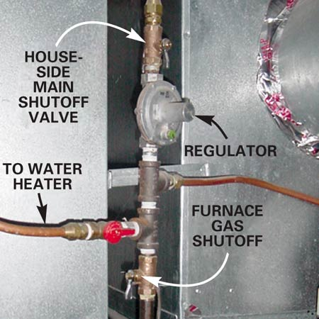 gas shut offs to furnace when gas is on