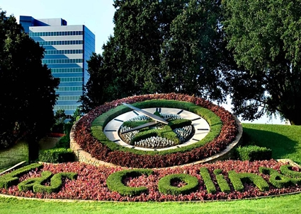 landscaping with las colinas spelled out los colinas tx