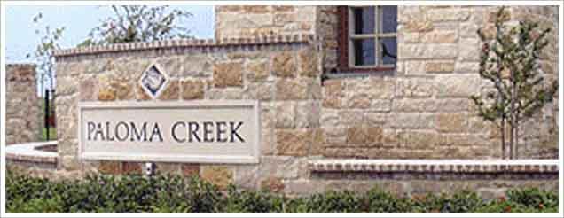 paloma creek texas entry monument