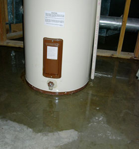 electric water heater leaking