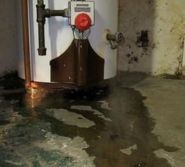 gas water heater leaking
